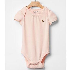 NWT Baby Gap milkshake pink bear bodysuit
